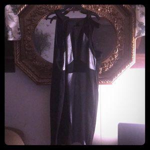 Black/sliver party dress